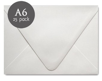 Wedding Envelopes - 25 Pack - White Envelopes - A6 - 4x6 - Envelopes for Greeting Cards - Christmas Card Envelopes