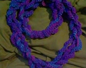 Infinity scarf, multicolor purples
