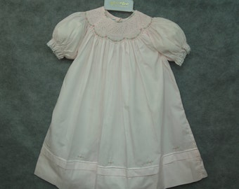 Feltman Brothers  dress pink Size 24M hand embroidered