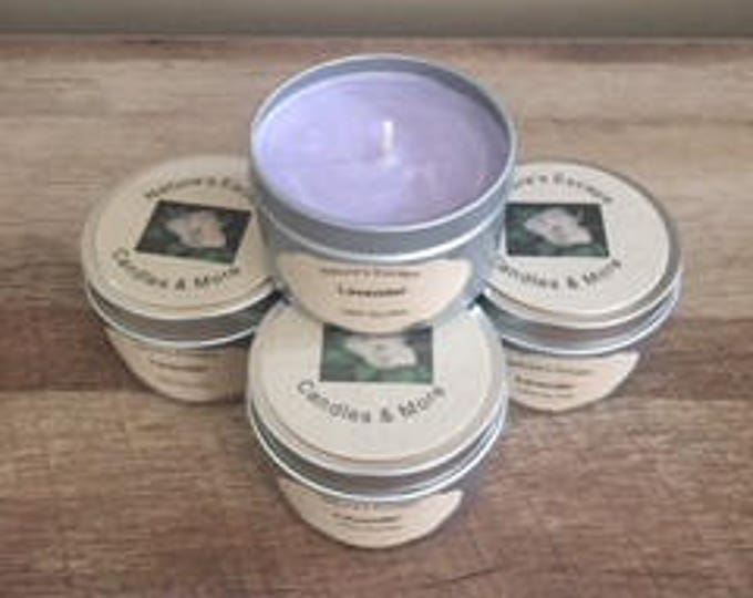 Lavender Soy Wax 6 oz. Candle Tins