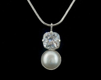 Pearl and Cubic Zirconia Pendant