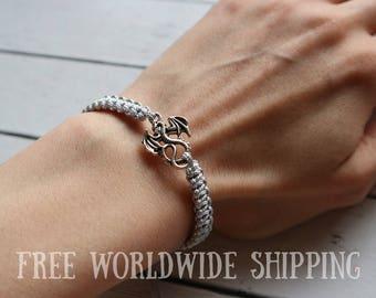 FREE SHIPPING! Dragon Bracelet, Asian Jewelry, adjustable bracelet, Game Of Thrones Bracelet, Knotted Bracelet, Bracelet for him