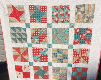 Quilt for Sale, Bright and Beautiful handmade quilt