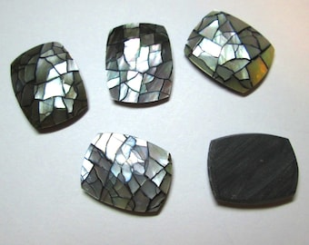 5 Mother of Pearl Cabochons