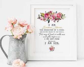 Baby Shower Gift Baby Girl Baby Girl Nursery Baby Gift, Daughter of the King, Christening Gift, Baptism Gift, Bible Verse Wall Art, Nursery