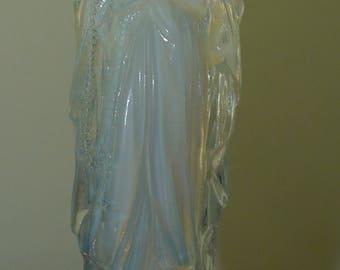 signed glass art deco etling Virgin