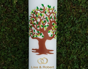 Wedding Candle with Tree of life
