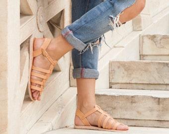 Leather sandals, Low Leather Gladiator Sandals, Roman sandals, Women Sandals, Greek sandals, Handmade sandals, Gladiators