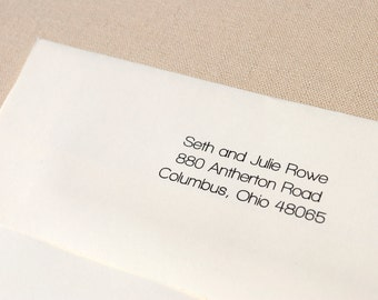 Return Address Printing - Add On to the Purchase of 12 Flat Cards