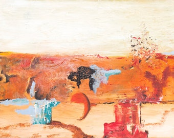 """Original Abstract Painting /Abstract Art / Home Decor/ Modern Art / """"Outback""""/ Sorry Only ships within UK"""
