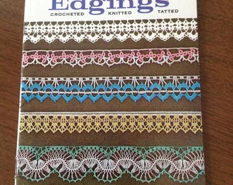 Crocheted edgings, knitted edgings, tatted edgings, vintage edgings, Lily Design edgings, 1970's crocheted, knitted and tatted edgings