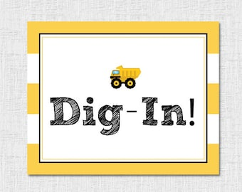 Dig-In Sign Construction Party
