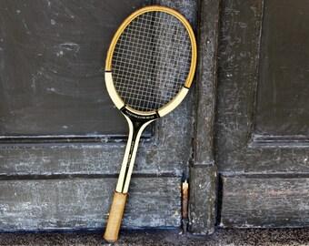 Tennis Racket - Vintage Tennis Racquet - Wooden Tennis Racquet Dorsch - Wood Tennis Racket Made in GDR - Tennisschläger - Sports Decor