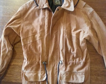 1980s Suede Leather jacket with hood