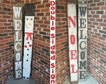 Rustic Christmas decor, Christmas welcome sign, Christmas signs, Primitive Christmas sign, Porch signs, Welcome porch sign, Porch decor