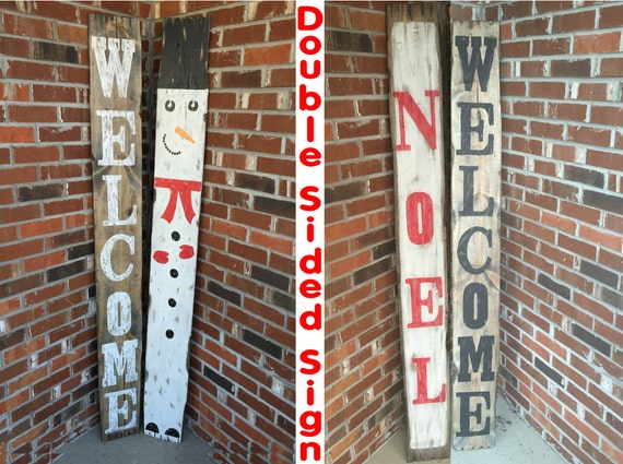 Rustic Christmas Decor Welcome Sign