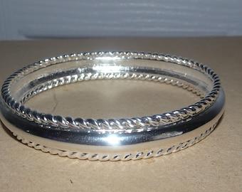 Premier Designs Silver Tone Bangle Bracelet