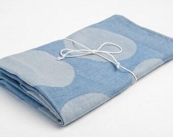 Linen blue towel, dish towel, kitchen towel, tea towel, Linen hand towel, kitchen accessory, home decor