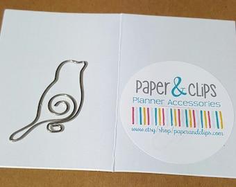 1 Large Bird Bookmark or Paper Clip Parakeet