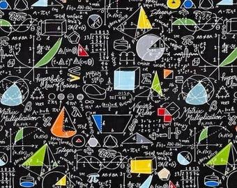 Black patchwork algebra Timeless trasures fabric
