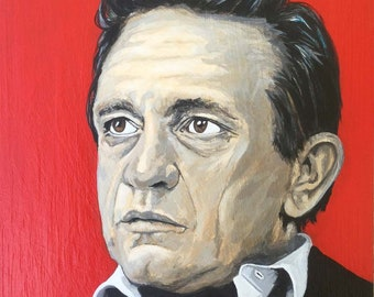 Johnny Cash original acrylic portrait