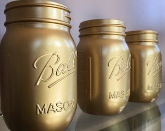 Gold Mason Jars