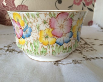 Collingwoods England, Fine Bone China, Floral Sugar Bowl.  Hand Painted, 1940s