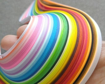 Quilling Paper Strips 35 colors, 390mm