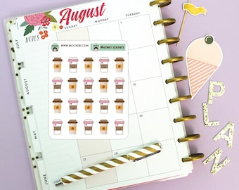 20 Coffee Mini Stickers / Planner Stickers
