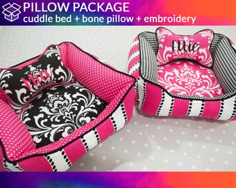 Design Your Own Dog Bed & Pillow with Personalization     Dog Bone Pillow, Heart Pillow   Washable, Design Your Own