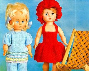 ROBIN 2718 Vintage Doll Knitting Pattern PDF Instant Download