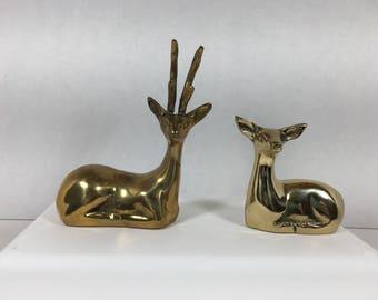 Set of Brass Deer
