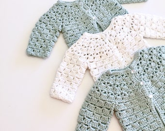 Cotton Summer Crochet Baby Cardigans Sweater