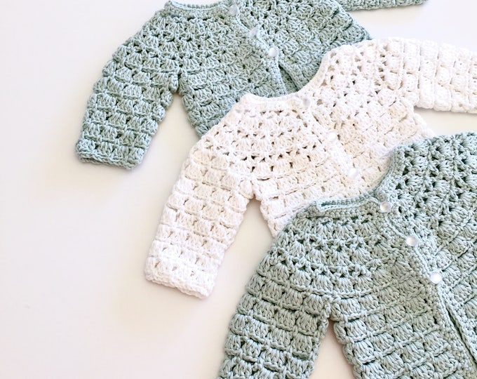 Featured listing image: Cotton Summer Crochet Baby Cardigans Sweater