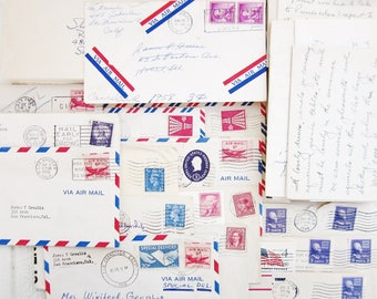 Lot of Vintage Letters, Vintage Mail, Handwritten Letters, Correspondence Paper Ephemera for Scrapbooking, Altered Art, Collage, Mail Art
