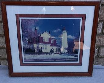signed Gary Bobofchak lighthouse photo