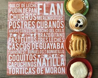 Cuban Desserts Poster - Cuba Poster - Kitchen Poster - Kitchen Wall Art - Food Poster - Food Art Print - Cuba