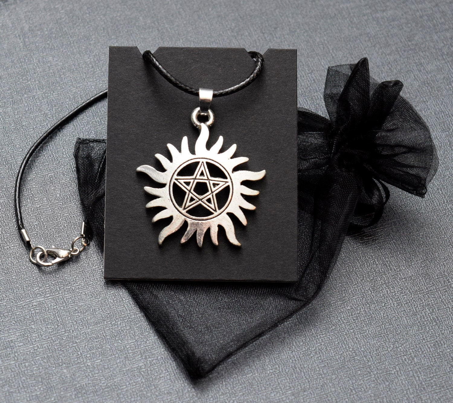 Supernatural sigil necklace winchester tattoo pendant zoom aloadofball Gallery