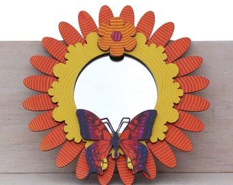 Mini Butterfly Flowerburst Mirror no 14