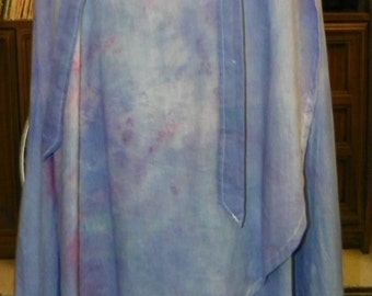 1 07 Designed for Comfort, Hand Crafted Maxi Wrap Skirt, One of a Kind , 100% Cotton Muslin MC