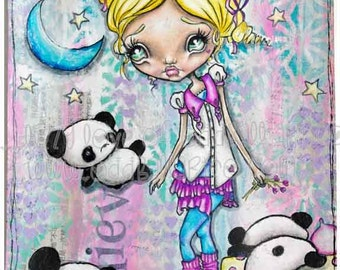 "Big Eye Art ""Nitey Nite Bears"" Giclee Print Signed Reproduction by Lizzy Love [IMG#150]"