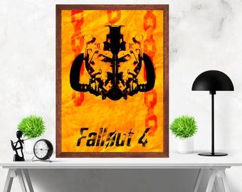 Fallout  4 Minimalist Alternative Video Game Print Poster