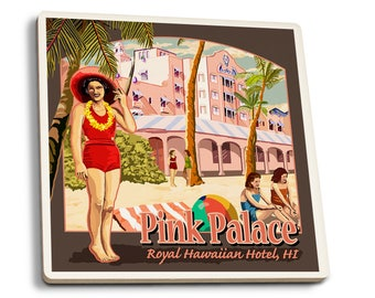 HI - Royal HIan Hotel - LP Artwork (Set of 4 Ceramic Coasters)