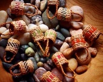 Cedar bark basket earrings