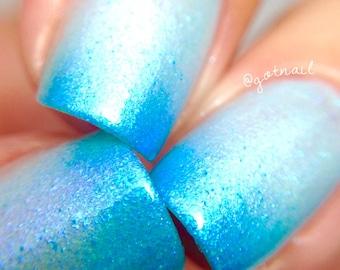 Sea Splash- -Color Changing Thermal Nail Polish:  Custom-Blended Indie Glitter Nail Polish / Lacquer
