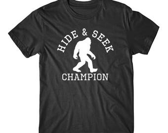 Hide And Seek Champion Funny Bigfoot T-Shirt