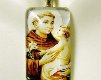 Saint Anthony pendant with chain - GP12-060
