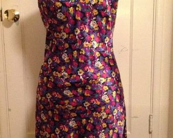 Super Cute Flowered Vintage Slip or Dress