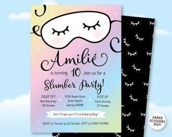 Pajama party invite etsy filmwisefo