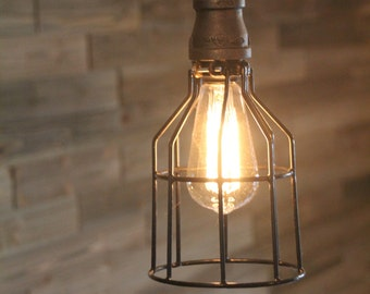 Wire Light Cage for hanging lights, Edison Bulb, Kitchen light, bathroom light fixture, industrial lighting
